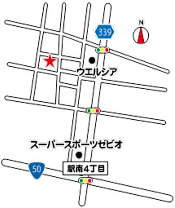 明泉堂こうの治療院地図